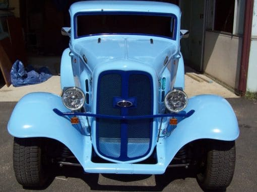 Blue 32 Ford Coupe Ute
